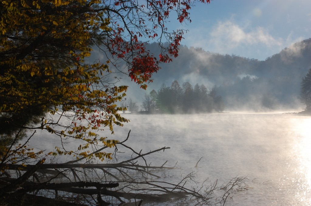 Mist Rising on Lake Glenville