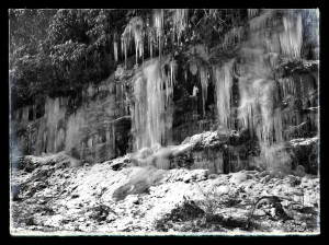 Frozen North Carolina Waterfalls