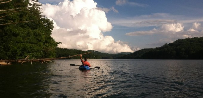 Kayaking on Lake Glenville NC